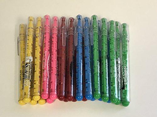 24 Lot Misprint Maze Puzzle Pens, Assorted Colors, Medium Point