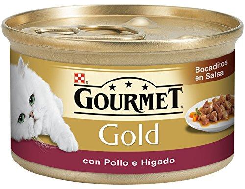 Gourmet - Alimento para Gato - Húmedo - Gold Bocaditos En Salsa Con Pollo E Hígado 85 g