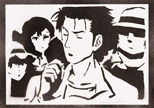 Steins;Gate Poster Rintarou Okabe Plakat Handmade Graffiti Street Art - Artwork