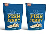 Feed The Viking, Fish Jerky with White Cheddar, Wild Atlantic Cod, Made in Iceland, Two 1.8oz Pouches
