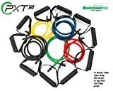 PXT360 Resistance Bands with Handles Complete Set of 5 Heavy Weights Exercise Tube Band from 5 to 50...