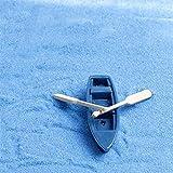 SANHOC 1Pcs Boot und 2ST Ruder Puppenhaus Miniaturen schöne Nette Fee Gartenzwerg Moos Terrarium Dekorfertigkeiten für Bonsai: als pic