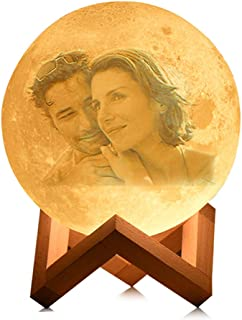 Luz De Luna 3d Personalizada, Luz Nocturna De Carga Usb, 16 Colores Led, Ideas De Regalos De CumpleañOs Para Hombres Y Mujeres, NiñAs, NiñOs (15 cm / 6 pulgadas)