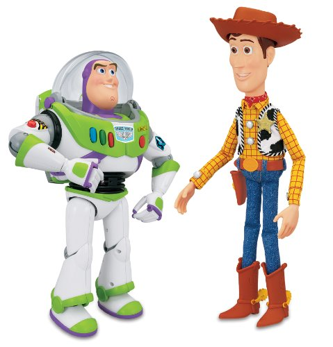 Thinkway Toy Story Interactivo Buzz y Woody Figura Playset