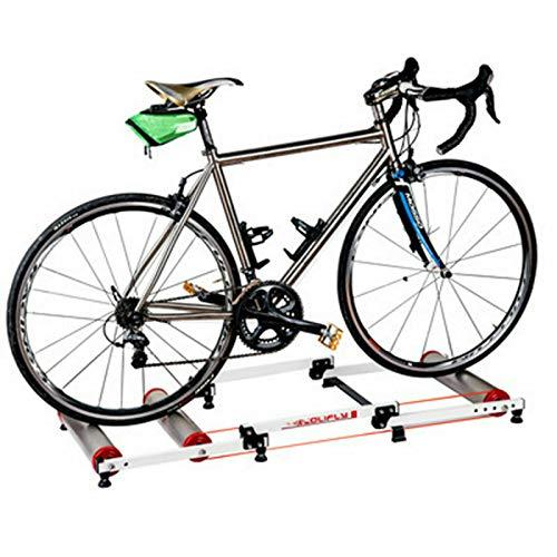 Bicicleta estática para entrenamiento en interiores, plegable, para 16-29', color plateado