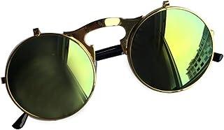 c6746e5f05 DIYOO Adultos Retro Estilo de Gafas de Sol de tirón Redondo John Lennon Gafas  de Sol