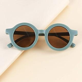 Gosunfly - Gafas de sol para niños de caja redonda, hombres y mujeres, niños, dibujos animados, parasol de ojos anti-UV retro