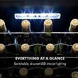 Klarstein Shiraz Uno - Weinkühlschrank, Temperaturen: 5-18 °C, 42 dB, Soft-Touch-Bedienfeld, 6 Regaleinschübe, Platz für 28 Flaschen Wein, Volumen: 74 Liter, schwarz - 7