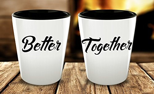 Couples Shots Glasses, Better Together, Mr Mrs, Boyfriend Girlfriend, Partners, Matching Couple Funny Quote