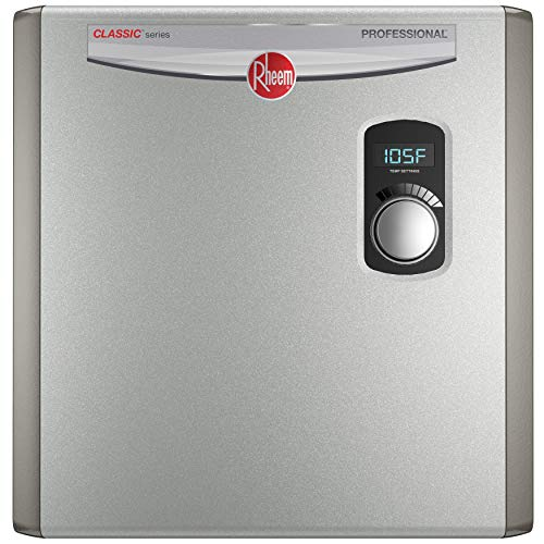 Rheem RTEX-24 24kW 240V Electric Tankless Water Heater, Gray