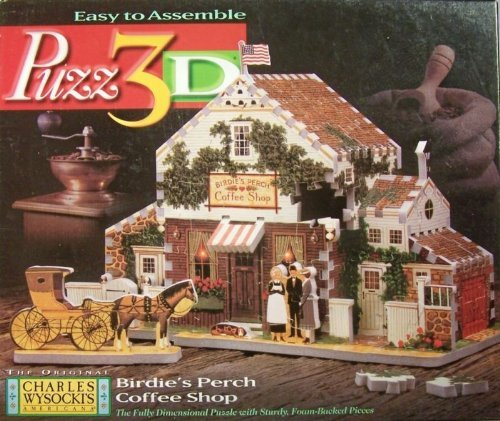 Puzz 3D Birdie's Perch Coffee Shop Jigsaw Puzzle 221 Pieces by Puzz-3D