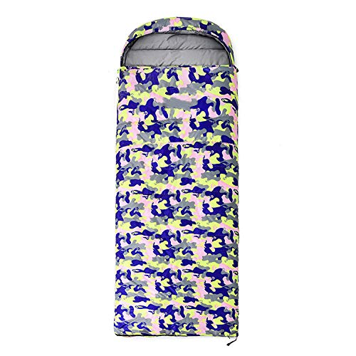 HPPSLT Sleeping bag adult easy to carry lightweight waterproof warm, Outdoor travel camouflage adult down sleeping bag-1500G velvet-3