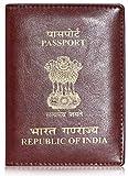 Cuero Craft Unisex Genuine Camel Leather Slimmest Passport Cover/Holder   Rust Brown