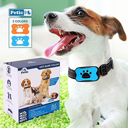 PETIC Anti-blafband | Met progressieve geluids- en trillingsstimulatiemodus | Voor alle hondenrassen
