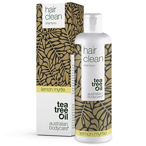 Australian Bodycare Hair Clean 250 ml | Tea Tree Oil + Lemon Myrtle | Schampo för daglig vård, effektiv vid mjäll, torr hårbotten och finnar i hårbotten | Tea tree oil shampoo för hår och hårbotten