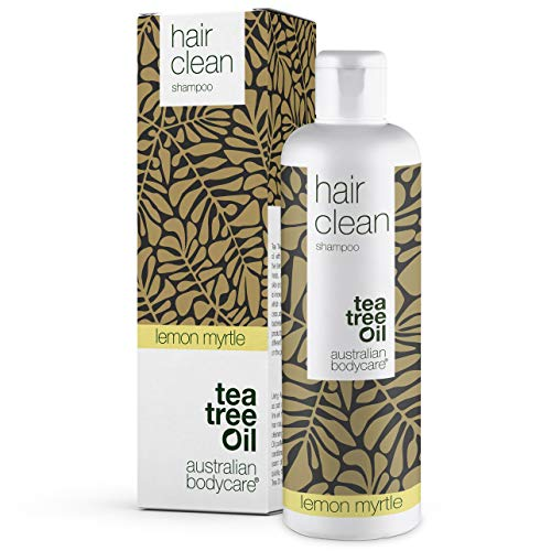 Australian Bodycare Champú Tea Tree Oil para cabello seco 250ml | Aceite árbol de té y mirto limón | Anticaspa y picazón | Cuidado de cuero cabelludo para psoriasis, eczema, neurodermatitis y Granos