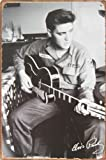 Retro Tin Posters Elvis Presley Gitarre spielen, Metall