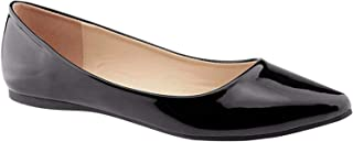 BellaMarie Angie-28 Women's Classic Pointy Toe Ballet Flat Shoes