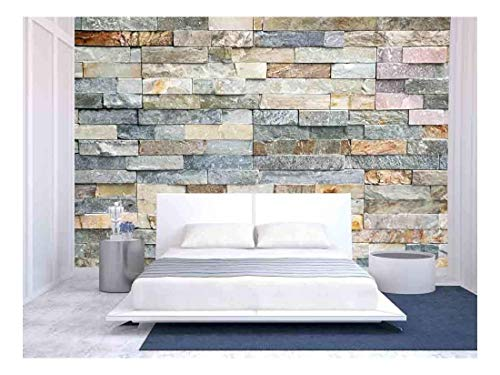 wall26 - Decorative Tiles Made from Natural Granite Stone - Removable Wall Mural | Self-Adhesive Large Wallpaper - 100x144 inches