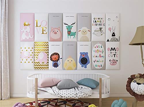 Liveinu 3D Wandpaneel Deckenpaneele Fliesen Wandbezug Wandverkleidung Wanddeko Wandplatten DIY Wärmeisolation Wasserdicht Wandaufkleber für Wände Hintergrund Wand Dekoration 25x50cm Bär