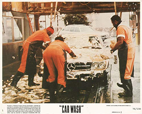 Car Wash (Complete set of eight original color photographs for the 1976 film)