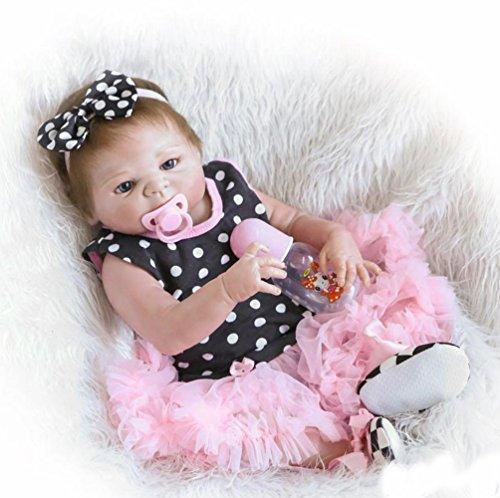 ZIYIUI Reborn Muñecas de bebé de 18 ''/45cm Vinilo de Silicona Suave Realista Niña Recién Nacido para niños Mayores de 3 años Juguete