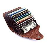 Kreditkarten-Etui, Visitenkarten-Etui, Weiches Rindsleder Kreditkartentasche, Visitenkartenhalter, Visitenkartenmappe, Kartenaufbewahrung für Herren und Damen (Bordeauxrot)