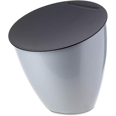 Mepal – poubelle de table Calypso - Argent - 2200 ml - idéale comme petite poubelle de cuisine - Le couvercle ferme bien - prend peu de place sur le plan de travail – convient au lave-vaisselle