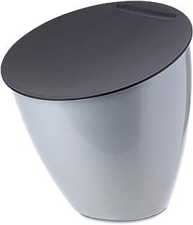 Rosti Mepal 108550046800 Poubelle de Table Calypso, ABS/PP, Argent, 175 x 175 x 184