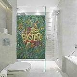 DIY decoración del hogar pegatinas de vidrio película de ventana, Pascua Pop Funk mariposa hoja, pel...