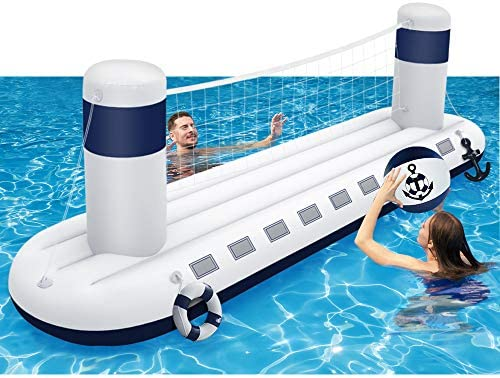 MeiGuiSha Swimming Pool Volleyball Set Water Game 2021 Edition Inflatable Volleyball Net with product image