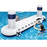 MeiGuiSha Swimming Pool Volleyball Set- Water Game 2021 Edition-Inflatable Volleyball Net with Ball Included- Perfect for Competitive Water Play- Ultimate Summer Toy