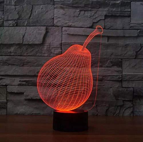 Ilusión 3D noche luz 7 cambio de color USB LED inalámbrico 3D LED noche novedad luminaria lámpara de escritorio