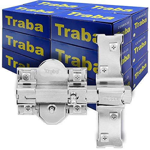 FAC SEGURIDAD - Caja de cerrojos para puertas modelo Traba 301-L de 50mm niquelado FAC Seguridad (12 unidades)