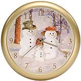 Snow Family Musical Christmas Carol Sound Clock - 8'