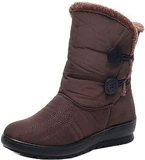 Fulision Women's Mother Balance Light Warm Flat Bottom Non-Slip Tarpaulin Short Boots Snow Boots