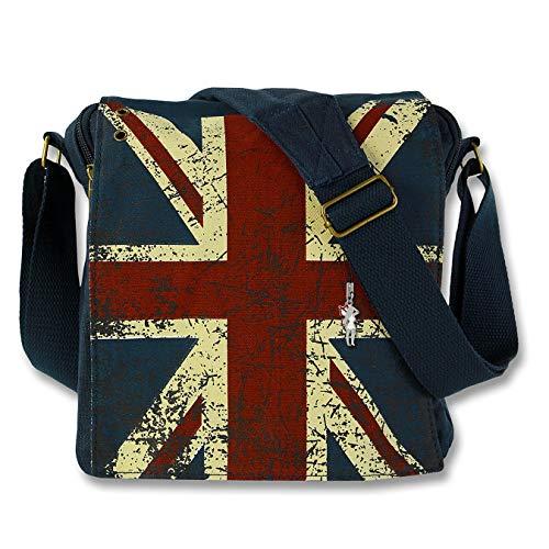 imppac Robin Ruth Union Jack Umhängetasche blau mehrfarbig matt Canvas OTG202M, ohne, Blau, Mehrfarbig