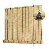 Persianas enrollables Persianas de bambú para exteriores, Cortina de caña-Cortinas decorativas retro, Parasol / Aislamiento térmico, Resistente a la lluvia, Parasol ciego-Persianas enrollables de bam