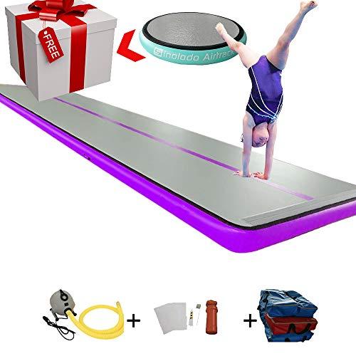 Sinolodo - Alfombrillas hinchables para gimnasia hinchables, 20'x6.6'x8''/ 6x2x0.2m, 7- púrpura
