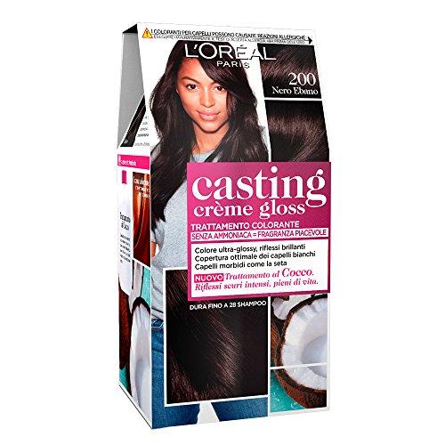 L'OREAL Casting 200 Crème Noir Ébène Sans Ammoniaque - Estrosa Colorant Cheveux