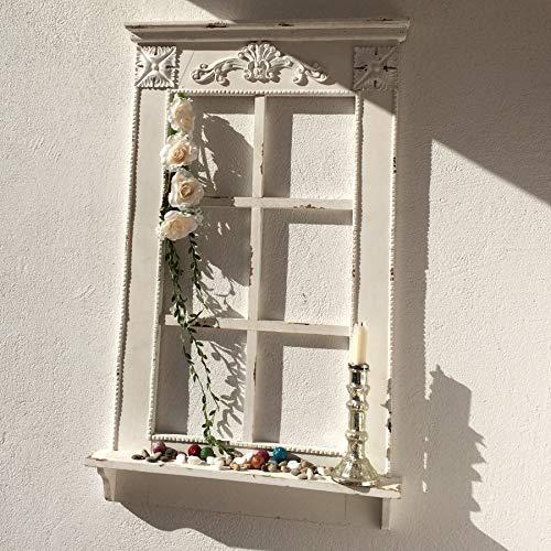 Annastore Dekofenster mit Fensterbank im Antik-Finish H 93 cm Deko Fenster Zierfenster
