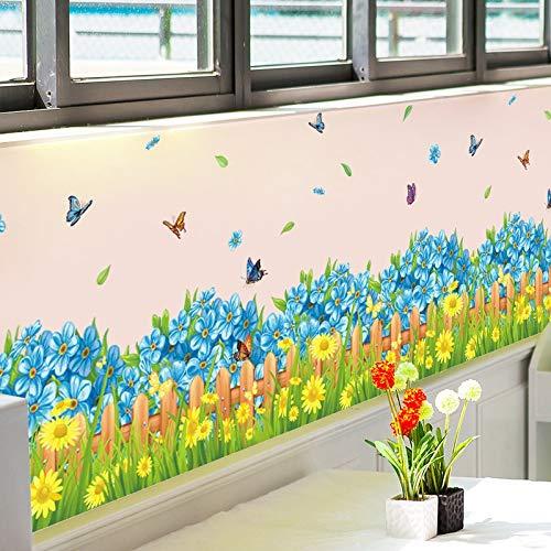 Etiqueta de la Pared 3D Fresca Flor de Mariposa de la Placa Base, Papel Pintado del Artista Cartel de la casa, for niños Dormitorio Sala de Estar y baño Decoración 50x70cm
