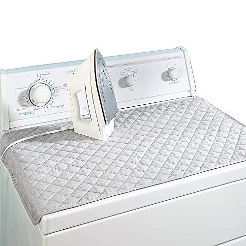 COOLBOTANG 折りたたみアイロンマット 85cm*48cm アイロン掛けシート アイロン台 銀メッキコーティング加工 全綿 アイロン台カバー 耐熱性が良い 両面使える 収納便利 アイロンパッド 手洗い可能 家庭 旅行 出張