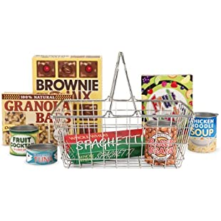 Melissa & Doug 15171 Grocery Basket - Pretend Play Toy With Heavy Gauge Steel Construction - Multicolor:Greatestmixtapes