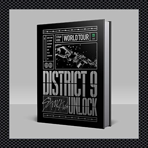 JYP Stray Kids - Stray Kids World Tour 'District 9 : Unlock' in Seoul Blu-ray + Pre-Order Benefit + Extra Photocards Set