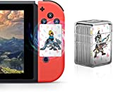 24 Pcs NFC Tag Game Cards for The Legend of Zelda Breath of The Wild BOTW, TLOZ Series NFC Tag Game Cards, Portable Crystal Case with Link's Awakening for Switch/Lite Wii U