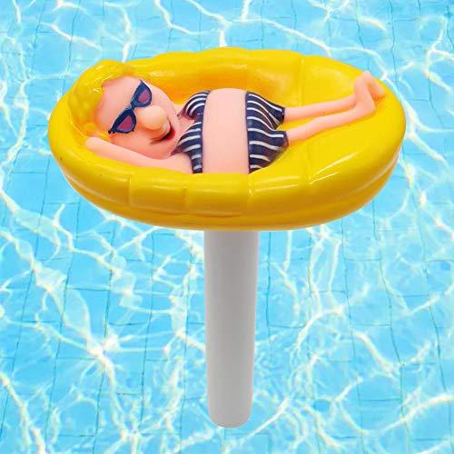 talogca Schwimmende Pool Thermometer, Stabthermometer Schwimmende Wassertemperatur Mit String & Bruchfest, Pool Karikatur Wasser Thermometer Für Spas, Hot Tubs, Aquarien, Fischteiche…