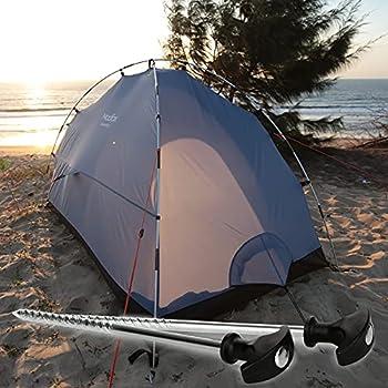 com-four® 24x Piquets de Tente en Acier - Pointes de Camping filetées très résistantes - idéales pour Tous Les terrains