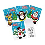 Fun Express Christmas Coloring Books (Bulk Set of 72 Books with 6 Pages Each) Santa, Snowman, Rudolph and More