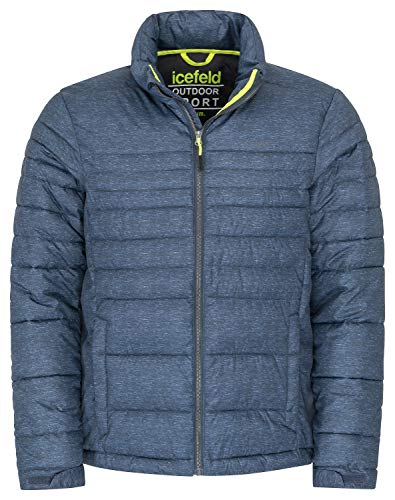 icefeld Herren Winter Jacke/Steppjacke/Isolationsjacke, Marineblau-meliert in XL